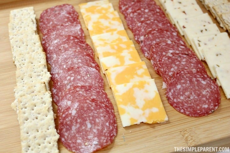home picnic meat and cheese