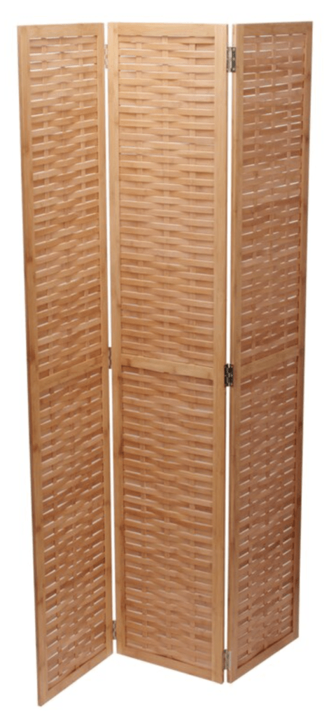 Natural 3 East Haven 3 Panel Room Divider