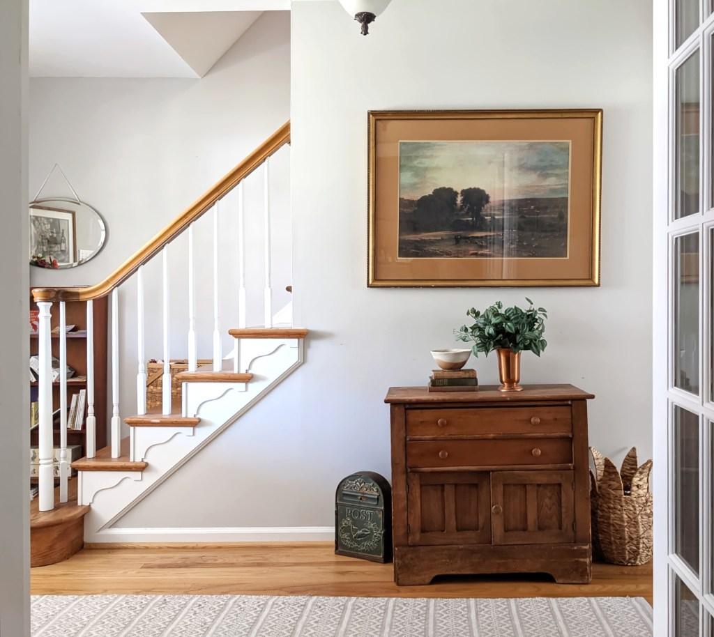 spring home tour entryway staircase