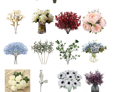 assorted artificial flowers roundup