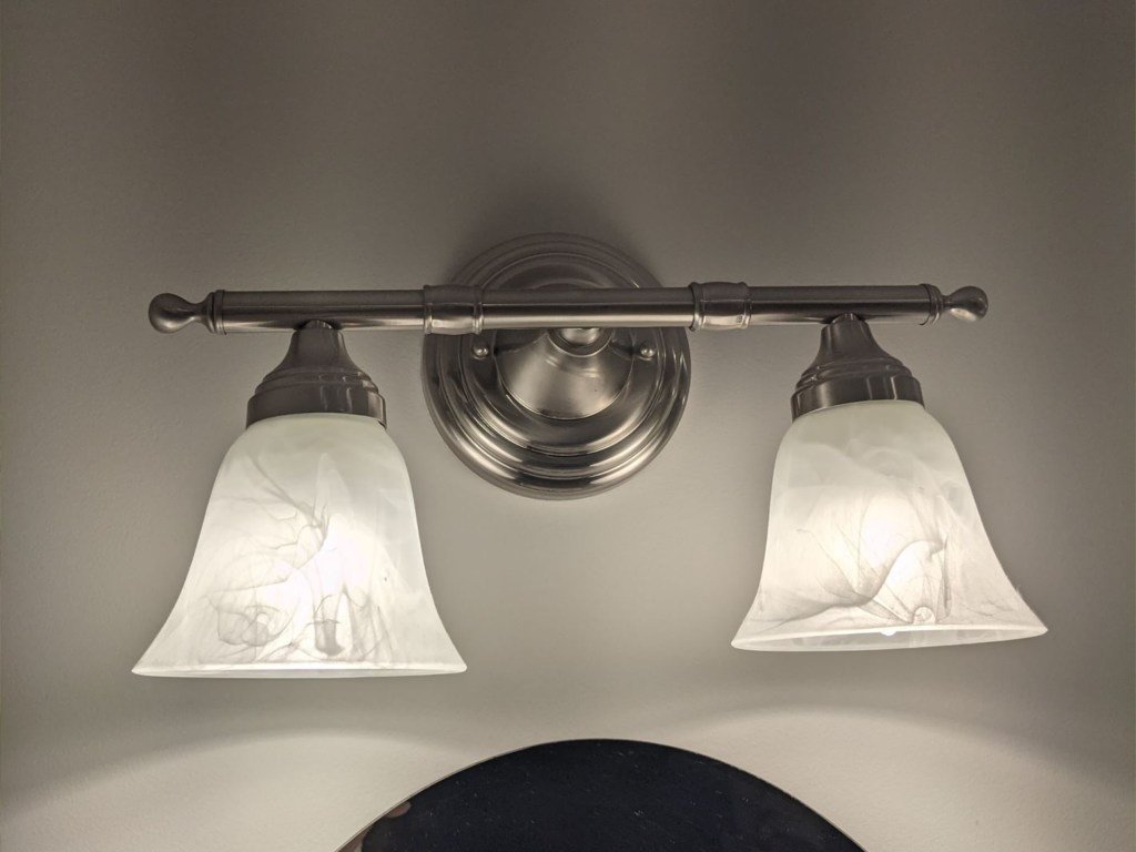 marbled frosted bathroom vanity sconce shades