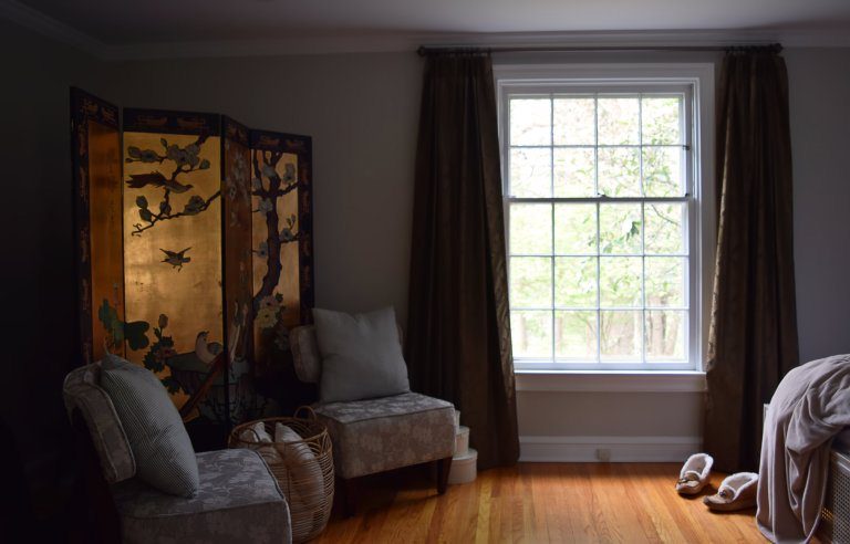 elliptical hiding screen and window