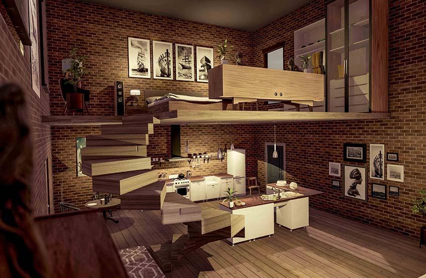 Archviz studio flat