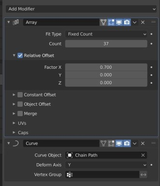Array and Curve Modifiers