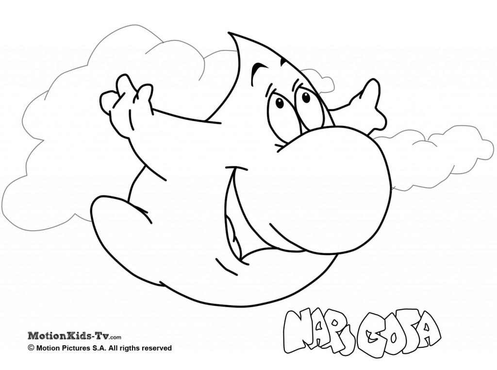 imprimir los dibujos para colorear de narigota pintar con niños