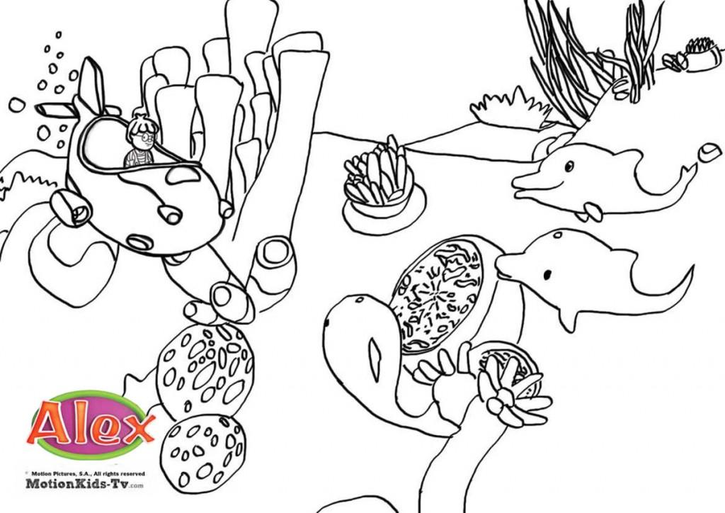 mar submarino dibujo pintar sea submarine coloring pages 1024x724 jpg
