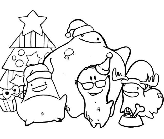 Imprimible Colorear Navidad Iluminar Glumpers Brindan Fiestas Navidenas Glumpers Celebrating Christmas Coloring Pages