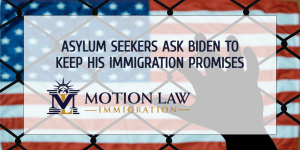 Asylum seekers call on Biden's government to act as soon as possible