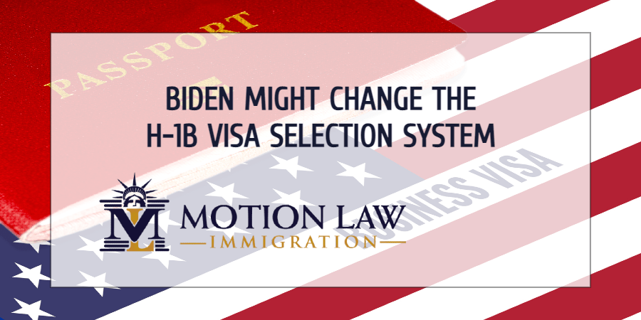 The Biden administration might use Trump's proposal to select H-1B visas