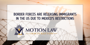 Border forces release immigrant families within the US