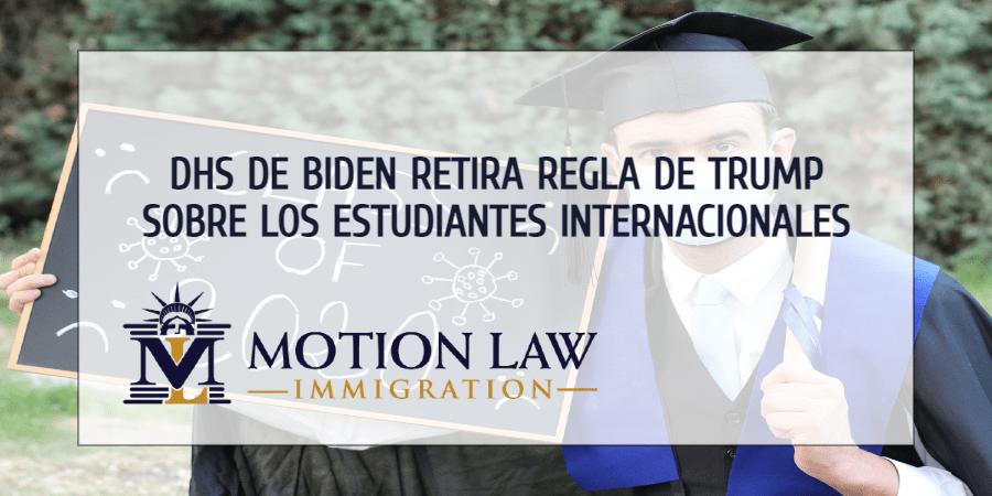Administración de Biden retira limitación sobre los estudiantes internacionales