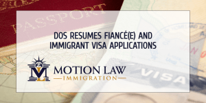 DOS allows the issuance of fiancé(e) and immigrant visas around the world