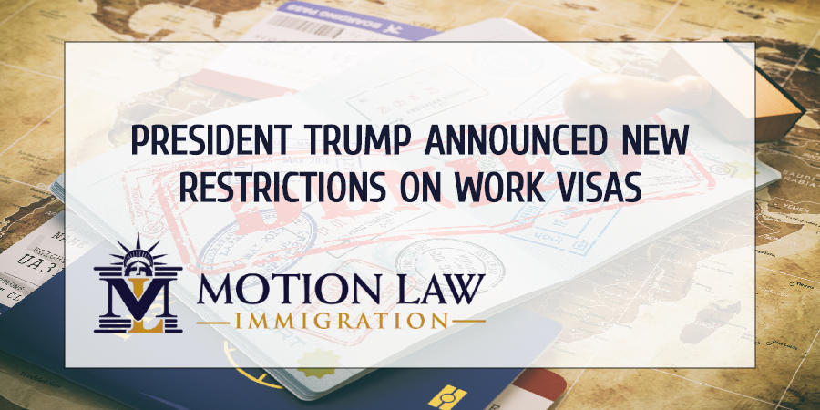 Trump suspends Work visas issuance for the rest of the year