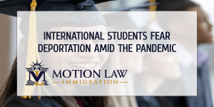 International Students can request an adjustment of status