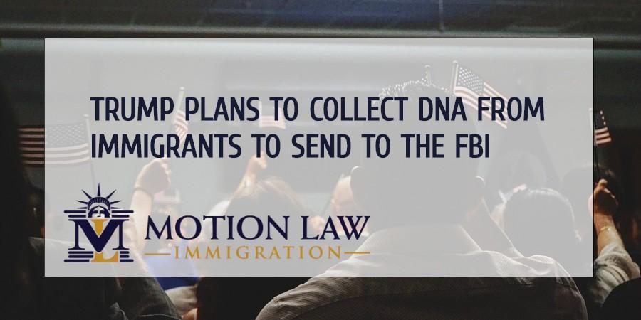 DNA testing in immigrants for crime scenes