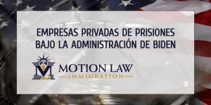Biden planea poner fin a los contratos con empresas privadas de prisiones