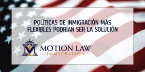 Políticas de Inmigración más flexibles podrían ser la solución