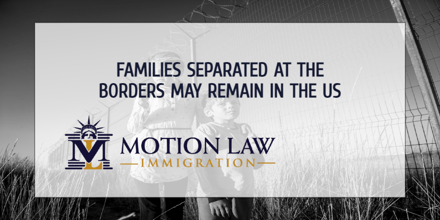 Families separated under the Trump administration may remain in the US