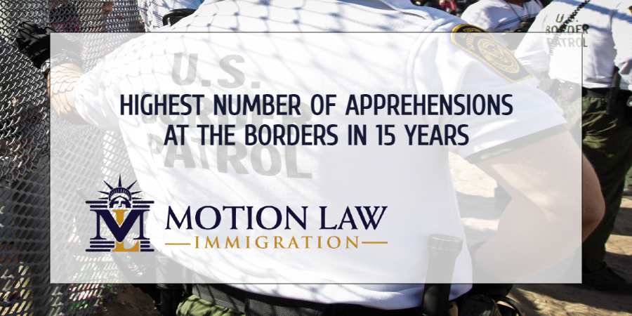CBP reports highest number of illegal border crossings in 15 years