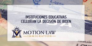 El sector de la educación celebra la decisión del DHS