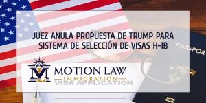 Juez anula regla propuesta por Trump para seleccionar visas H-1B