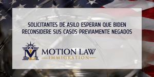 Solicitantes de asilo con casos previamente negados esperan poder entrar a USA
