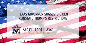 Texas Governor calls on Biden to retake Trump's border practices