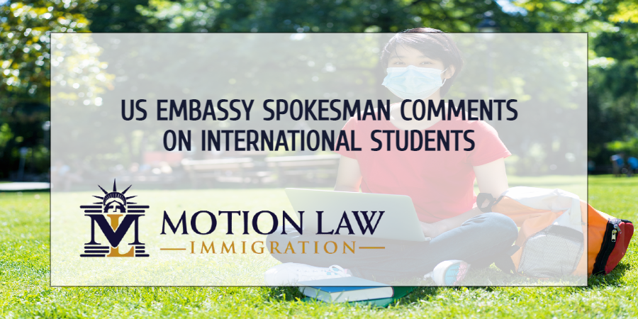 Embassy spokesman in Beijing comments on student visa restrictions