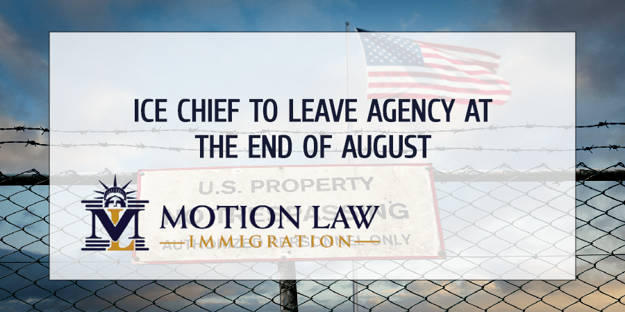ICE's chief will change in September