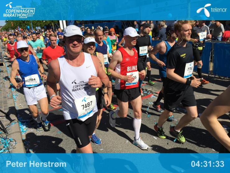 Billede af Peter, der løber marathon