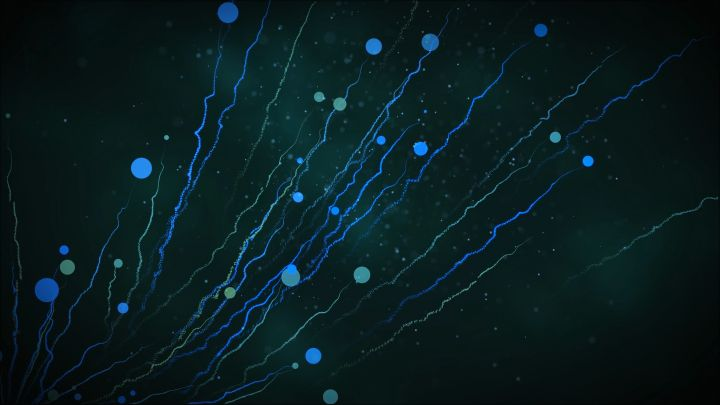 Abstract Particle Trails background video