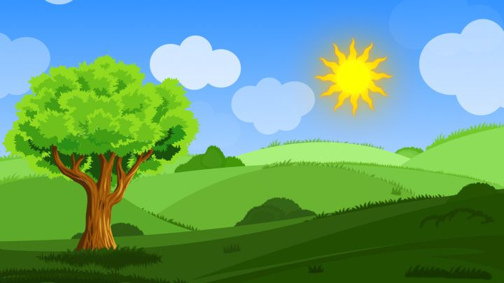 Animated Cartoon Landscape Background