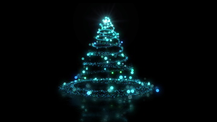 Christmas tree background video loop