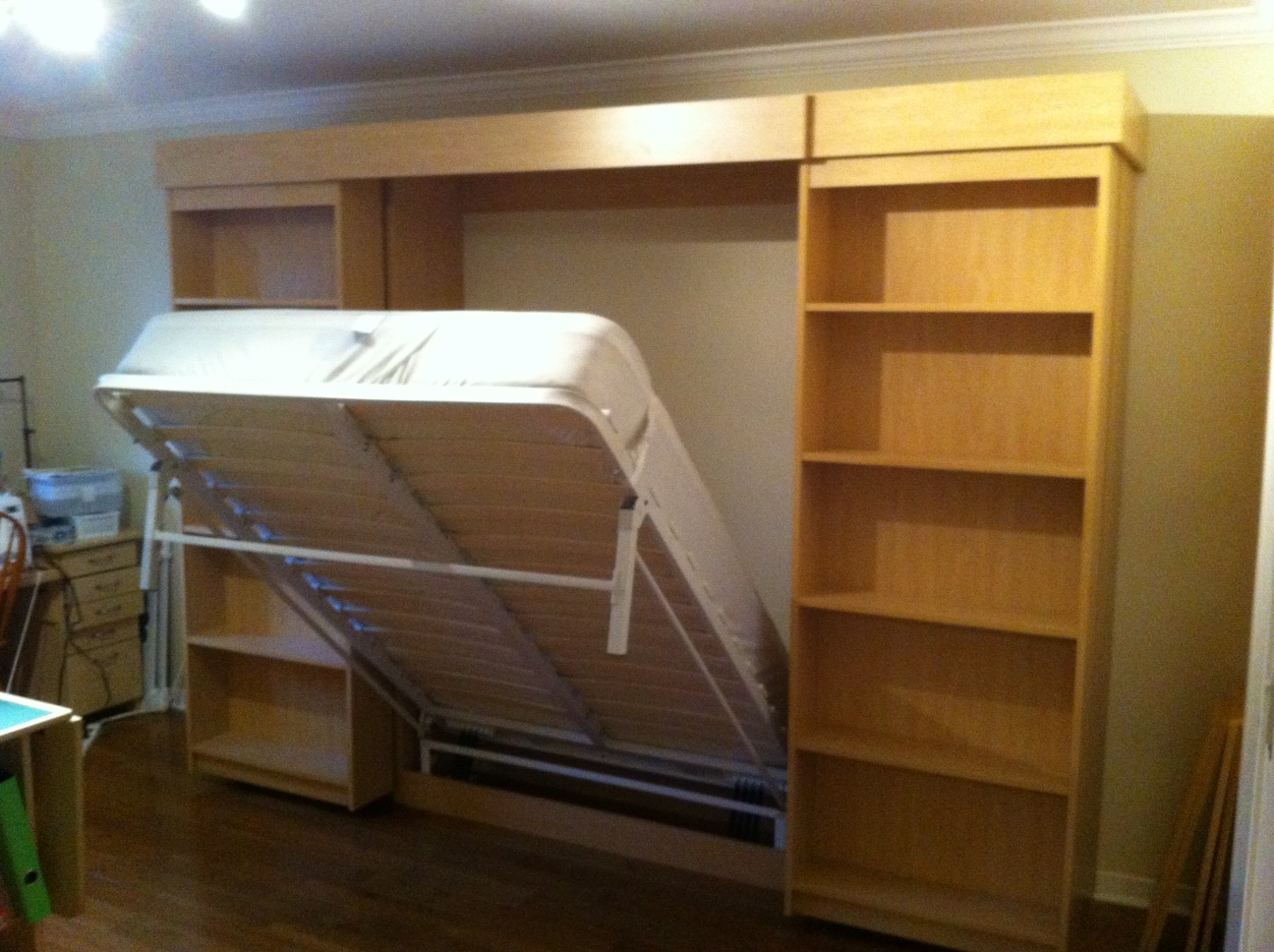 Sliding Library Murphy Bed