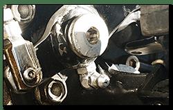 Aprilia Caponord ETV1000 & Rally-Raid rear brake pedal and grease nipple