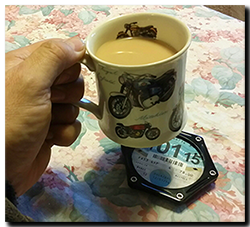 making a tax disk holder into a coaster