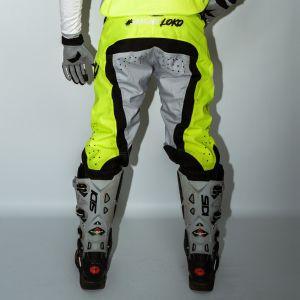 Back of adult orange engage motorsports pants
