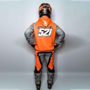 Model showing rear of customised hoodie