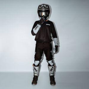 front of model wearing black fresh motorsports kit