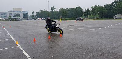 motor rijvaardigheid uitwijkoefening