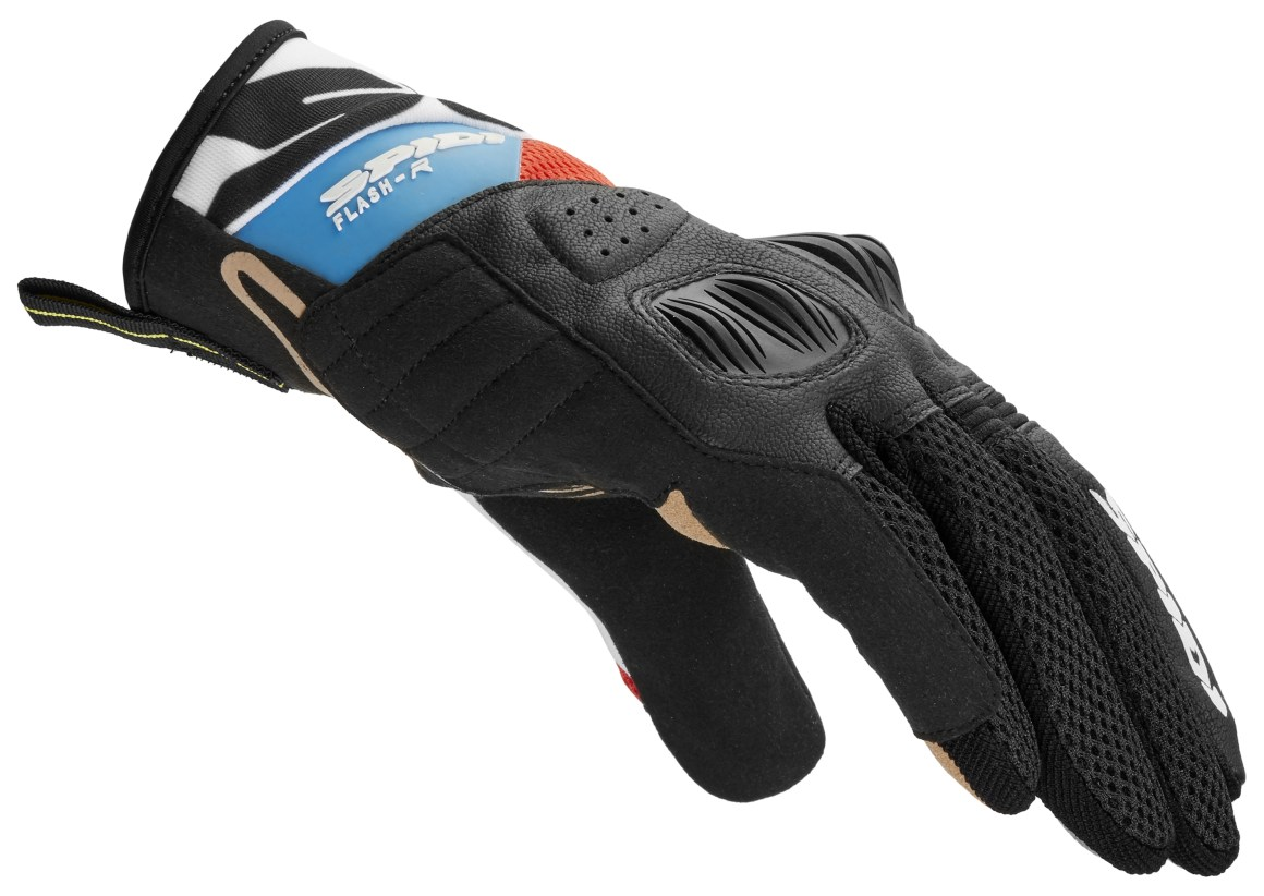 SPIDI GLOVES FLASH R EVO - WHITE BLUE RED Image