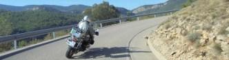 Moto-Pyrénées virage