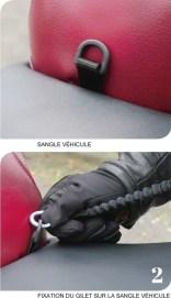 gilet airbag sangle