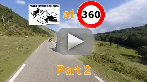 vidéo des balades moto dans les Pyrénées avec des panoramas à couper le souffle