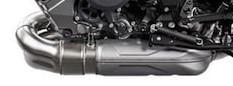 essai du roadster KTM Superduke version 2020 vue sur l'échappement côté gauche