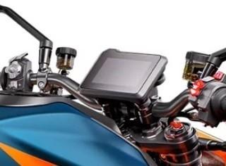 Vue sur le tableau de bord du KTM Superduke 2020 V3