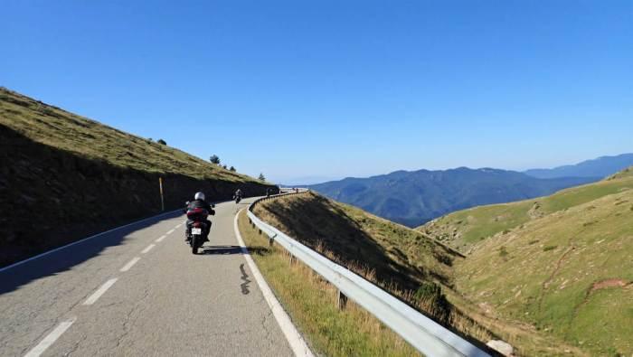 Balades moto dans les pyrenees en juillet 2020