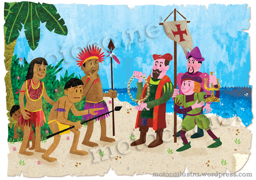 Cabral negociando com os índios