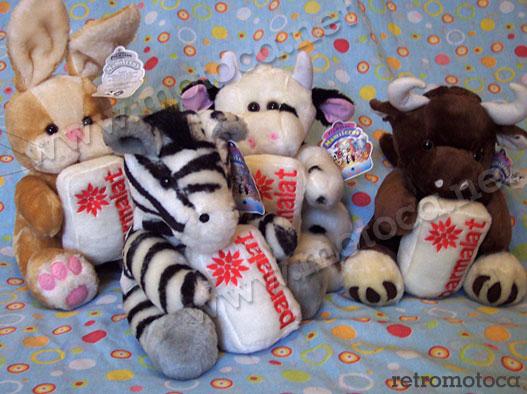 coelho, vaca, búfalo e zebra