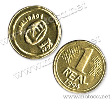 moeda chocolate